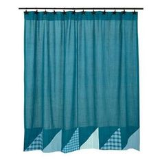 boho eclectic shower curtain | blue green shower curtain | bright shower curtain