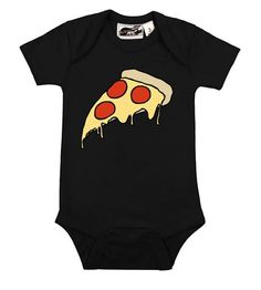 Pizza onesie from My Baby Rocks www.punkbabyclothes.net awesome funny baby  clothes and 305aae80fa32a