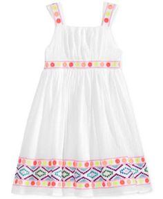 Blueberi Boulevard Embroidered Cotton Dress, Toddler & Little Girls (2T-6X) | macys.com