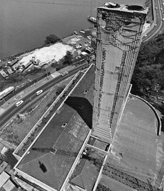 Pyrmont incinerator view from above — The Pyrmont incinerator designed by Walter Burley Griffin in Sydney City, Sydney Australia, Vintage Photography, Historical Photos, Ancestry, The Locals, Past, Buildings, History