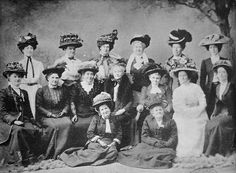 Delegates to the Australian Women's Conference in Brisbane, 1909 , (suffragette movement in Queensland).jpg