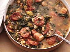 Hearty One-Pot Black-Eyed Pea Stew With Kale and Andouille Recipe | Serious Eats