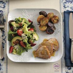 ¡Es importante comer saludable! Los Platos porción perfecta Marissa facilitan servir una cena balanceada con proteínas, carbohidratos y vegetales. #Saludable #Porciones