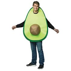 Adult Avocado Costume  Everyone loves an avocado from Mexico! They're nutritious, delicious and easy to incorporate into your daily meals. Become every Californian's favorite fruit this season in our Adult Avocado Halloween Costume! This item features a screen printed avocado tunic. Pick up our Adult Avocado Halloween Costume today and become the world's healthiest fruit. No matter what party you show up to, you will instantly make everything gain a higher nutritional value.