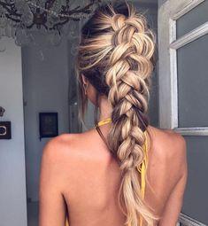 coiffure tendance femme hiver jolie tresse #hairstyles