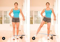 Say bye bye to outter butt and hip fat, hello den… Outter thigh / butt exercise. Say bye bye to outter butt and hip fat, hello dent Ankle Strengthening Exercises, Resistance Band Exercises, Thigh Exercises, Thigh Workouts, Outer Thighs, Butt Workout, Glutes, Fitness Motivation, Women's Fitness