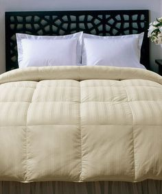 Look what I found on #zulily! Ivory Stripe 330-Thread Count Beauty Comforter by Hotel Grand Collection #zulilyfinds