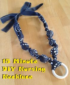 Traxel Time: 15 Minute DIY Nursing Necklace