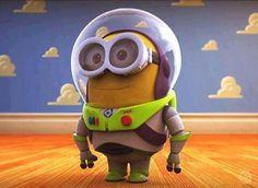 Minion Buzz Lightyear by Oscar Trejo from Mexico via Behance - disney pixar toy story meets despicable me Amor Minions, Minions Quotes, Minion Toy, Despicable Me 2 Minions, Cute Minions, Minions 2014, Minion Rush, Evil Minions, Minion Stuff