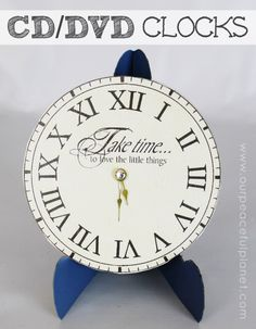 New Years free clock face printables (cd size and plate ...