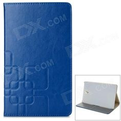 Stylish Flip Open PU Case w/ Stand / Auto-Sleep for 8.4'' Samsung T700 - Deep Blue Price: $9.41