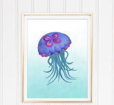 Best Of Jellyfish Painting Watercolor pictures Pet Jellyfish, Jellyfish Light, Jellyfish Painting, Jellyfish Drawing, Watercolor Sea, Watercolor Pictures, Crocheted Jellyfish, Texture Art, Pictures To Paint