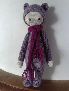 BINA the bear made by Desiree M. / crochet pattern by lalylala