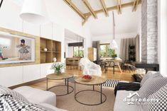 Hawana - Dobre Domy Flak & Abramowicz Home Technology, Design Case, Open Kitchen, House Plans, New Homes, House Design, Furniture, Home Decor, Houses