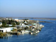 View from the bridge over the Apalachicola River as you drive into town.