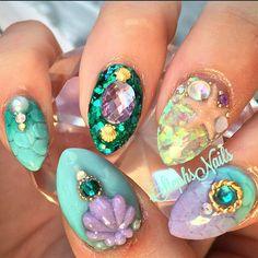 ✧•°♬❀ WrapWhispererr ✿✞❁✧°• ||Mermaid nails