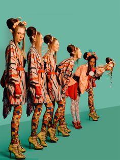 Summer to fall street style: celebrity edition Ad Fashion, Kimono Fashion, Fashion Shoot, Vogue Editorial, Editorial Fashion, Hot Poses, Magazine Collage, Madame Butterfly, Traditional Kimono