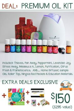 I am totally in love with these essential oils! Treat yourself (or a loved one) to the January Young Living Essential Oil Deal! Get a $20 Amazon gift card, an Essential Oil Reference Book, Quick Reference Sheets and MORE when you purchase a Young Living Premium Starter Kit this month! Find out more info here: www.pre-kpages.com/young-living-starter-kit/