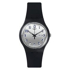Swatch Womens Originals SUOB718 Black Silicone Swiss Quartz Watch -- More info could be found at the image url.Note:It is affiliate link to Amazon.
