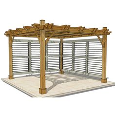 Outdoor Living Today - 12 x 12 Breeze Pergola with 2 Louvered Wall Panels #Brand_Outdoor-Living-Today #Category_Pergolas #louvered-panels
