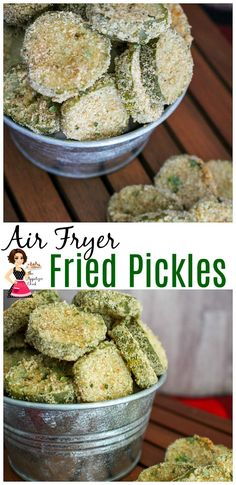 Learn how to make delicious fried pickles in the air fryer. They are just as crispy as deep fried, but healthier and less greasy. Yummy Appetizers, Appetizer Recipes, Appetizer Ideas, Snack Recipes, Dinner Recipes, Crayfish Salad, Deep Fried Pickles, Air Fryer Recipes, Side Dish Recipes