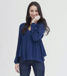 MASON & BELLE | Free Spirit - Crochet Hem Boho Top