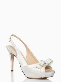 Kate Spade bridal shoes: grano heels