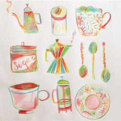 "Gefällt 284 Mal, 3 Kommentare - Wies  • illustrator • (@sowiesowies) auf Instagram: ""Sunday morning, Rain and coffee in bed❤️ #ink #instaart #ilustracja #illustratie #illustrator…"""