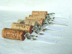 Wedding: Autour du vin! Porte-clé souvenir pour chaque invité !