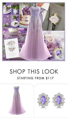 """A Lovely Lilac Nuptials!"" by krusie ❤ liked on Polyvore featuring Reception and Amanda Rose Collection"