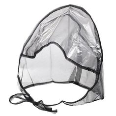 Women's Clear Plastic and Netting Full-cut Visor Rain Bonnet