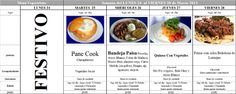 Menú Vegetariano del 25 al 28 de Marzo de 2014