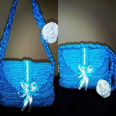 Handmade ribbon bag @250