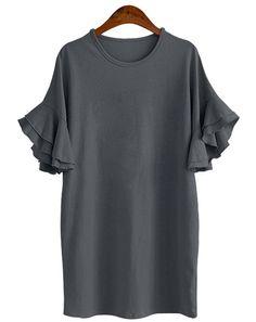 Gray Tee Shirt Dress