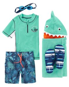 Take a bite out of summer in super fun shark prints. From the pool to the beach, he's ready to make a splash!