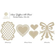 Anna Griffin® Cuttlebug™ Butterfly Cut & Emboss Dies 5-piece Set ... Autoship - First shipment March 2015 HSN # 405873 Autoship - Anna Griffin Assorted Emboss Dies with Mat Set, to ship in March 2015 (Butterflies), July 2015 (Spiders and Specters - Halloween), September 2015 (Holiday Bells - Christmas) and December 2015 (All Heart - Valentines)