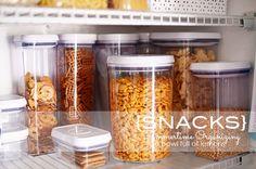 Learn how to organize your kids snacks for summertime via A Bowl Full of Lemons