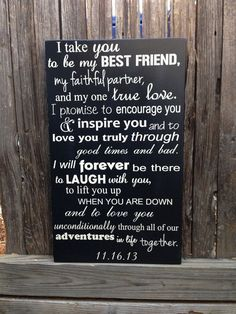 So I was thinking about writing our own vows right? But like we would both say the same thing, just something non traditional like this. What do you think?