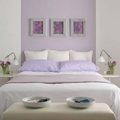 Interior Lavender Bedroom Ideas how to work the lilac and grey colour scheme into your home gray no headboard just takes a little bit of paint would be pretty guest bedroom