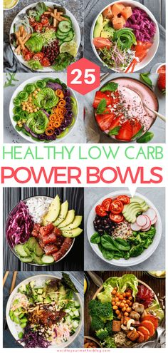 25 Insta-Worthy Low Carb Power Bowls To Add To Your Weekly Keto Meal Prep Line-Up 25 healthy power bowl recipes for breakfast, lunch, and dinner! These low carb keto-friendly power bowl recipes are easy and perfect for meal prep! Add these keto recipes to Healthy Chicken Recipes, Lunch Recipes, Healthy Dinner Recipes, Diet Recipes, Smoothie Recipes, Pasta Recipes, Best Healthy Recipes, Soup Recipes, Vegan Recipes