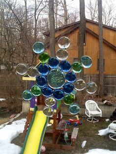 Glass gem suncatcher