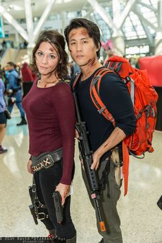 Maggie Greene and Glenn Rhee (THE WALKING DEAD) | Comikaze Expo 2014 - Saturday #DTJAAAAM