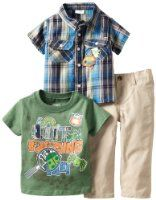 Little Rebels Baby-Boys Infant 3 Piece Quit Bugging Me Denim Pant Set, Beige/Khaki, 12 Months Baby Boy Clothing Sets, Cute Baby Clothes, Shopping Catalogues, Colored Denim, Green Shorts, Blue Plaid, Baby Boy Outfits, Outfit Sets, Cute Babies