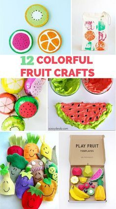 12 Colorful Fruit Crafts for Kids                                                                                                                                                     More
