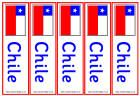 Chile bookmarks - colour