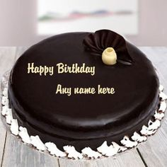 Write name pics on birthday cakes.happy birthday greetings wishes card images with name editing. anniversary wishes greetings card with name editing. write name on love pics online.day wishes with name write Happy Birthday Brother Cake, Happy Bday Cake, Happy Birthday Cake Writing, Birthday Cake Quotes, Send Birthday Cake, Happy Birthday Chocolate Cake, Birthday Wishes With Name, Happy Birthday Cake Pictures, Happy Birthday Wishes Cake