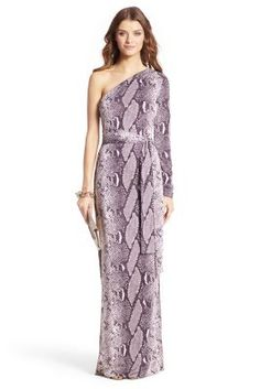 DVF - Coco Silk Jersey One Shoulder Maxi Wrap Dress
