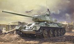 Construction Guide Pt scale Zavod 183 from Italeri T 34 85, Military Drawings, War Thunder, Model Tanks, Armored Fighting Vehicle, Ww2 Tanks, World Of Tanks, Red Army, Military Art