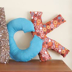 DIY Letter Pillows!  *fingers crossed that mine will turn out looking like letters!*