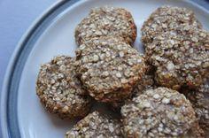 Lekkere koekjes gemaakt van alleen maar havermout, bananen en lijnzaad.